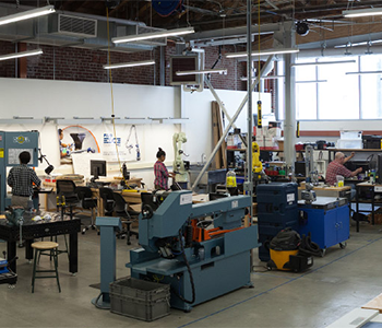 the Advanced Prototyping Center located in the La Kretz Innovation Campus
