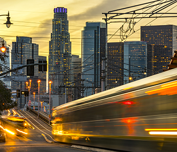 Los Angeles vehicle and light rail transportation